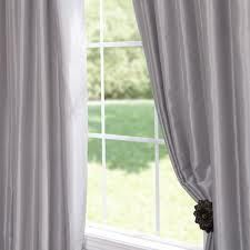 dupion silk silver curtains