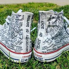 """The crafty work of a #Flyer17Grad: """"Presenting the class of 2017 🎓 UD will forever have my heart and sole ❤️ Thank you for preparing me to take the next step."""" And we'll be with you every step of the way 😉 (👟: @ellie_hunt_)"""