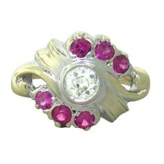 14K Gold Diamond Pink Gemstone Ring. Available @ hamptonauction.com at the Fine Jewelry Watches Coins and Collectibles Auction on October 20th, 2014! Come preview our catalog!
