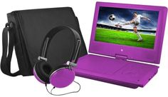 Ematic 9 Portable DVD Player With Color Headphones DVD Carrying Bag, Bundle #Ematic