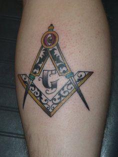 Masonic Symbol Tattoo On Leg Freemason Tattoo, Masonic Tattoos, Symbol Tattoos, Leg Tattoos, Masonic Lodge, Masonic Symbols, Cool Tats, Freemasonry, Butches