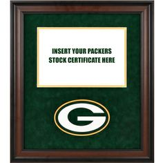 packers certificate frame