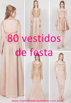 80 vestidos de festa para formandas, convidadas e madrinhas de casamento.