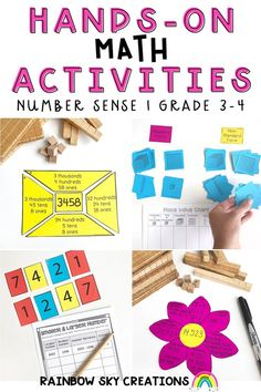 This comprehensive resource is designed to provide your students with hands-on, differentiated activities to build place value and number skills, as well as reflection activities and open-ended problem-solving tasks suitable for Grade 3 and 4. Teaching Math, Teaching Ideas, Professional Development For Teachers, Standard Form, Tens And Ones, Rainbow Sky, Australian Curriculum, Place Values, Number Sense