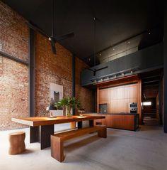 Bricks and wood