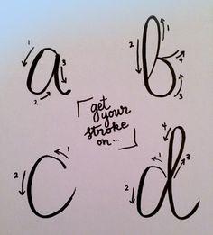 fake calligraphy strokes