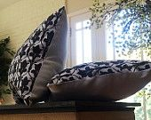 Sherlock inspired 221b accent pillow (Sherlock wallpaper small throw pillow. Strong twill fabric & white denim stretch. Decorative pillow.)