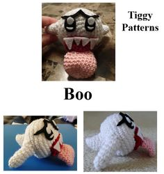 This is a crochet Boo that I made. The pattern is available on Etsy and Craftsy.