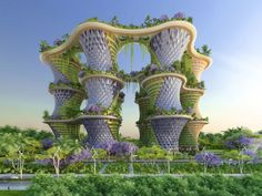 ABF-lab unveiled Agro-main-ville (food-farm-tower), a gigantic ziggurat-like urban farming proposal for Romainville, Paris.