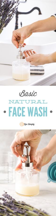 So easy! Basic and customizable face wash recipe.