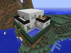 awesome minecraft houses | Awesome Modern House! Minecraft Project