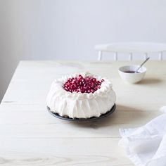 Pavlova is a meringue-based dessert named after the Russian ballet dancer Anna Pavlova.[2] It is a meringue dessert with a crisp crust and soft, light inside.[1] The name is pronounced /pævˈloʊvə/ or /pɑːvˈloʊvə/, unlike the name of the dancer, which was /ˈpɑːvləvə/.[3][4][5]  The dessert is believed to have been created in honour of the dancer either during or after one of her tours to Australia and New Zealand in the 1920s.