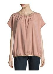 Brunello Cucinelli Grosgrain Trim Stretch Silk Top, Pink found on sale at LAST CALL BY NEIMAN MARCUS about 3 hours ago