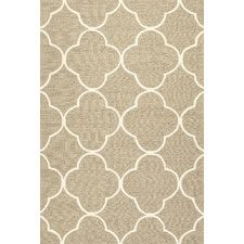 Barcelona Geometric Taupe & Ivory Indoor/Outdoor Area Rug