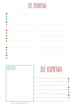 Lista DO ZROBIENIA do druku! - partymika Back To School Organization, Planner Organization, Planner Pages, Printable Planner, School Must Haves, Bullet Journal 2020, School Planner, Free Calendar, Brain Dump