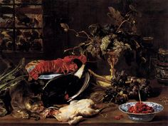 Still Life with Crab, Poultry, and Fruit - Frans Snyders