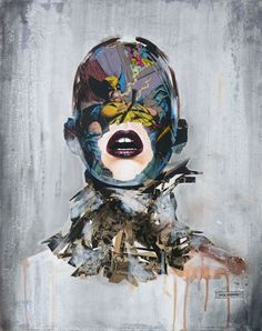 We featured the art of Sandra Chevrier here on the site back in the Spring, but the Montréal-based artist has been churning out piece after piece from her Superman, Batman, Art And Illustration, Sandro, Cover Art, Mens Halloween Makeup, Montreal, Sandra Chevrier, Portraits