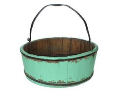 Buy Antique Revival Vintage Clovis Bucket, Turquoise - Topvintagestyle.com ✓ FREE DELIVERY possible on eligible purchases
