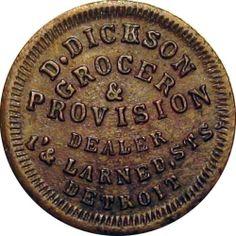 1863 Detroit Michigan Civil War Token D. Metro Detroit, Detroit Michigan, Detroit Vs Everybody, Detroit History, Shop Logo, American Civil War, Best Cities, Great Lakes, Folklore