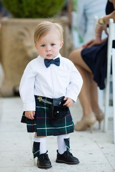 Put your cutie in a kilt for a Scottish ceremony.