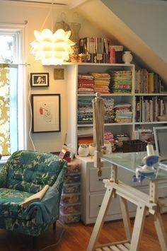 Someday I'll have a sewing nook where I can whip up quilts, pillows, curtains, etc...