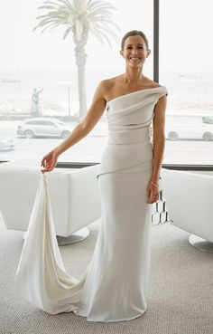 Wedding Styles, Wedding Ideas, Ever After, Custom Made, One Shoulder Wedding Dress, Marie, Wedding Gowns, Evening Dresses, Tulle