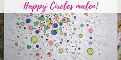 Happy Circles Doodles, Kids Rugs, Circles, Happy, Painting, Decor, Paint Techniques, Watercolor Painting, Crafting
