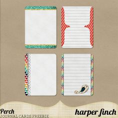 Free Perch Journal Cards from Harper Finch