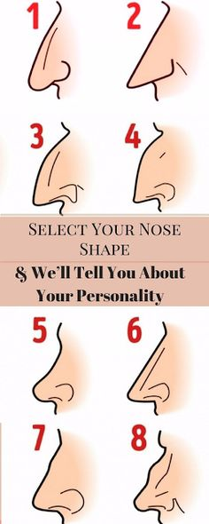 SELECT YOUR NOSE SHAPE AND WE'LL TELL YOU ABOUT YOUR PERSONALITY