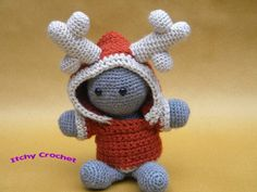Inchoate Reindeer Crochet Pattern by ItchyCrochetDesigns on Etsy