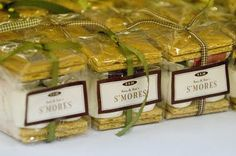 S'mores favors for a summer camp wedding. Camp Wedding, Our Wedding, Destination Wedding, Wedding Stuff, Dream Wedding, Wedding Bonfire, Wedding Cake, Autumn Wedding, Wedding Things