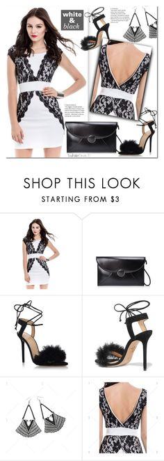 """""""white & black"""" by duma-duma ❤ liked on Polyvore featuring Charlotte Olympia and vintage"""