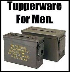Tupperware for men... Funny because I actually have these.