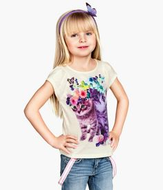 H&M Jersey Top with Printed Design $9.95