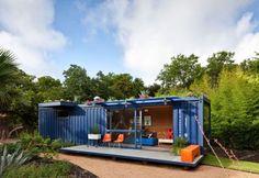 Quelle: www.greendiary.com ... oder ein Gartenhaus aus einem Seecontainer ...