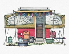Whimsical Aloha Travel Trailer Pinned By Haw Creek Com