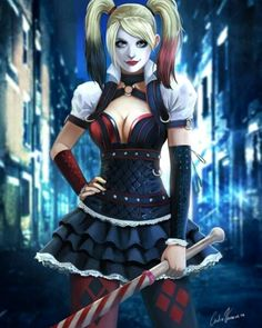 Caped Crusades brings you an awesome piece of Batman: Arkham Knight fan art of Harley Quinn by a great artist! Get your daily dose of Batman Fan Art here! Batman Arkham Knight, Batman Arkham City, Dc Comics, Comics Girls, Harley Quinn Et Le Joker, Harley Quinn Cosplay, Marvel Vs, Gotham City, Girl 3d