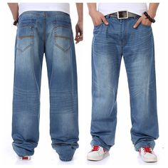 >> Click to Buy << Men Hiphop Loose Jeans Retro Baggy Denim Pants Blue Jeans New 2017 Skateboarder Jeans Streetwear Mens Hip Hop Free Shipping #Affiliate