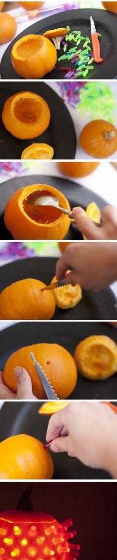 Our latest pumpkin carving idea! Mail Lite Brite Pins to use on a Mini-Pumpkin! Best Pumpkin, Cute Pumpkin, Diy Pumpkin, Holiday Crafts For Kids, Diy Crafts For Gifts, Holiday Fun, Kid Crafts, Fall Crafts, Holidays Halloween