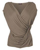 Women's NeutralBia Drapey Wrap Sleeveless Top