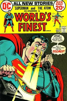 Between World's Finest #94, Superman #76, the Superman radio show, and Justice Society appearances in All-Star Comics, DC ended up with four different versions of how Superman and Batman first met. Description from diversionsofthegroovykind.blogspot.ca. I searched for this on bing.com/images