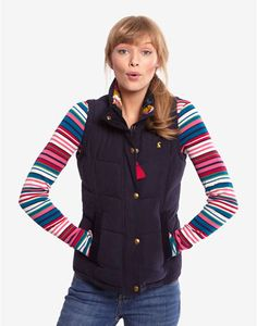 5fa42d05df4 Joules HIGHAM Womens Padded Gilet, Navy. Perfect for a country ramble, dash  to