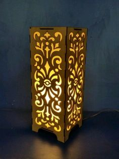 Laser Cut Lamps, Laser Cut Wood, Handmade Lamps, Handmade Decorations, Kirigami, Cnc Cutting Design, Iron Candle Holder, Laser Cutter Projects, Glass Photography