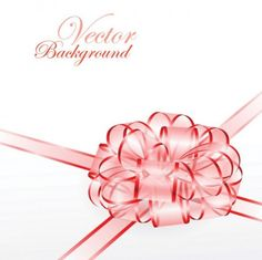 Dainty Pink Gift Bow Vector Background - http://www.dawnbrushes.com/dainty-pink-gift-bow-vector-background/