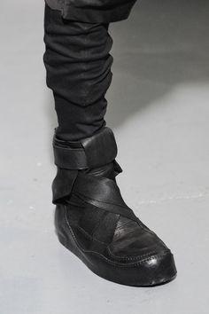 _JULIUS 7 wrap strap black leather boot