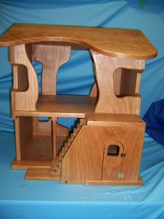 Beautiful Waldorf hard wood doll house by weberswoods on etsy.