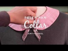 Sew a Peter Pan Collar with Amy Karol I Creativebug Fashion Jobs, Peter Pan Collars, Make Your Own Clothes, Mind Body Spirit, Pretty Face, Design Your Own, Sewing Tutorials, Drink Sleeves, Free Pattern