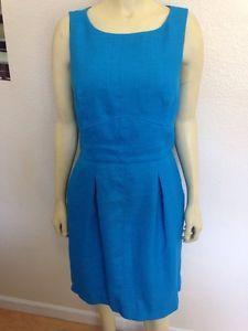 Sale Ralph Lauren Blue Teal Dress 10 w Pockets | eBay