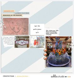 FREE Digital Scrapbooking Template / Sketch | September '21 | Sahlin Studio | Digital Scrapbooking Designs