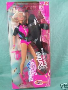 Ahh my favorite bath time Barbie!! I think I might actually still have the whale somewhere...